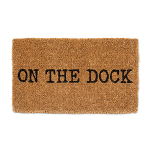 """On The Dock"" Doormat"