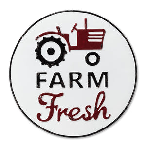 """Farm Fresh"" metal sign"