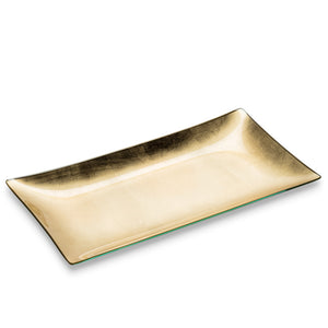 Gold Rectangular Plate Set