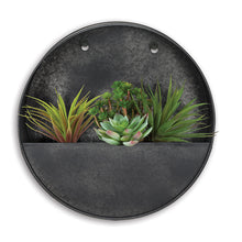 Load image into Gallery viewer, Black Round Wall Planter