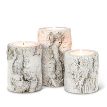 Load image into Gallery viewer, Birch Candle Holder Set (Set of 3)