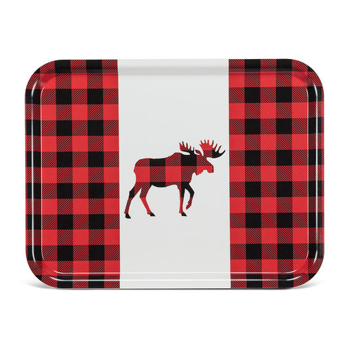 Buffalo Check Moose Tray