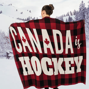 """Canada is Hockey"" Throw"