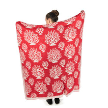 Load image into Gallery viewer, Coral Knit Throw Blanket