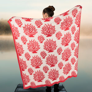 Coral Knit Throw Blanket