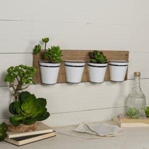 Wall Planter with Metal Buckets