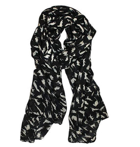 Chic Cat-printed Scarf-3
