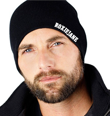 BEANIE Black with Roxie Jane logo