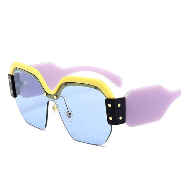 Hot Oversized Rimless sexy sunglass for women