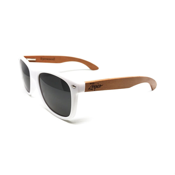 Wooden frame trendy sunglasses UV Polarized
