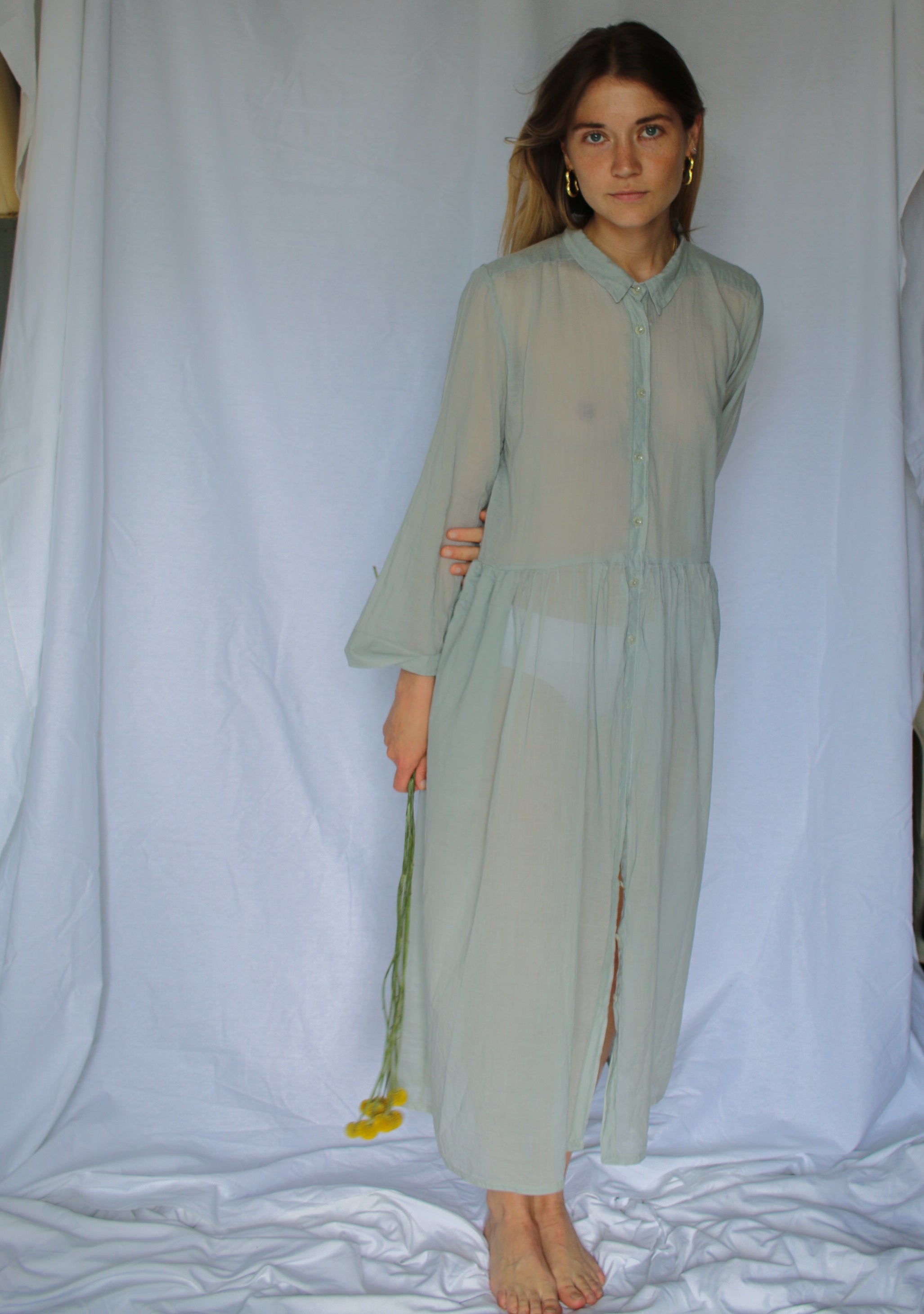 The Coco dress - Sage green