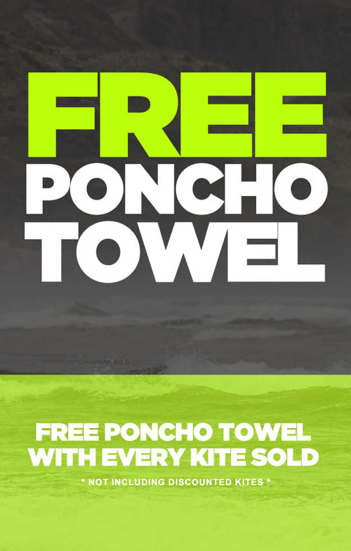 Free Poncho Towel with each kite sold