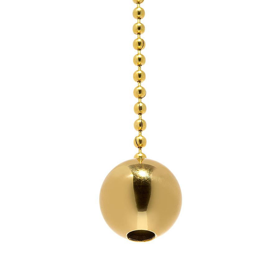 Pull Chain Ball With Thru Hole To Slip Beaded Chain - Liberty Brass