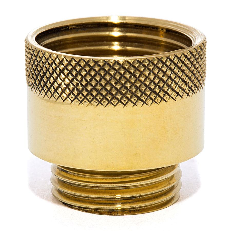 Knurled Male X Female Nozzle - Liberty Brass