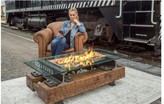 THE TRACKSIDE - DESIGNER SERIES FIRE TABLE