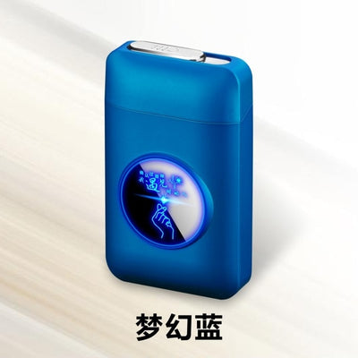 LED Cigarette Holder Case with Lighter