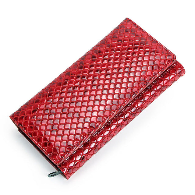 Red Dragon Scale Designer Wallet