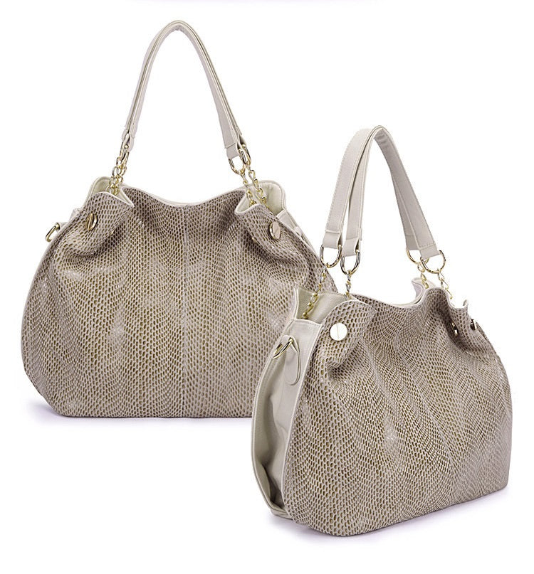 Snake Skin Leather Lady Bag