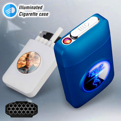 USB Cigarette Holder Case With Lighter
