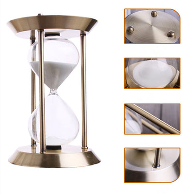 30 Minute Metal Hourglass Sand Clock