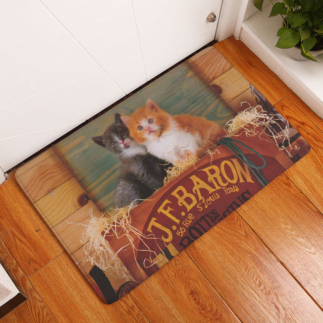 Lovely Kitten Welcome Mat