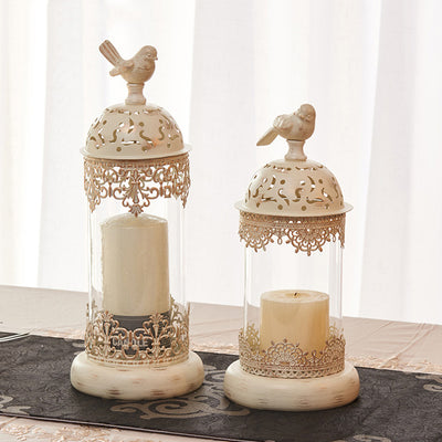 Vintage Bird Cage Lantern Candle Holders