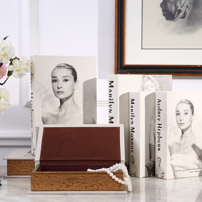 Audrey Hepburn Wooden Secret Book Safe