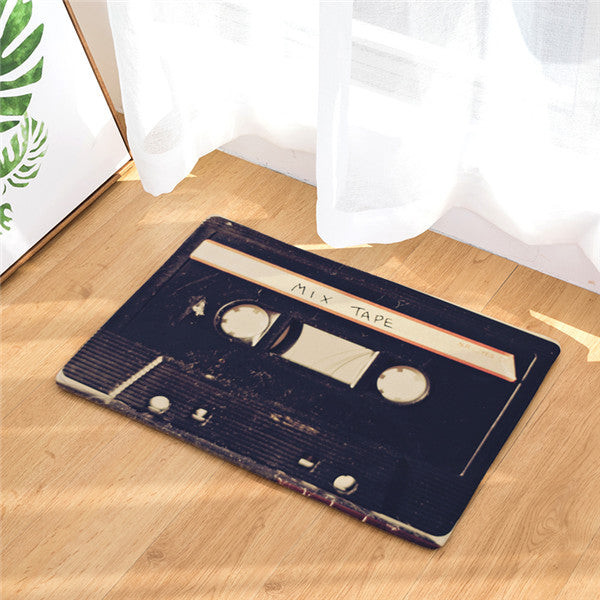 Retro Compact Cassette Tape Welcome Mat