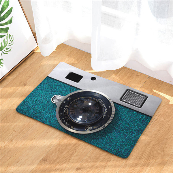 3D Retro Camera Welcome Mat