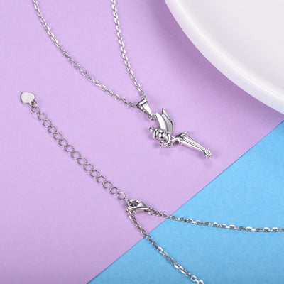 Silver Chain Necklace Pixie Fairy