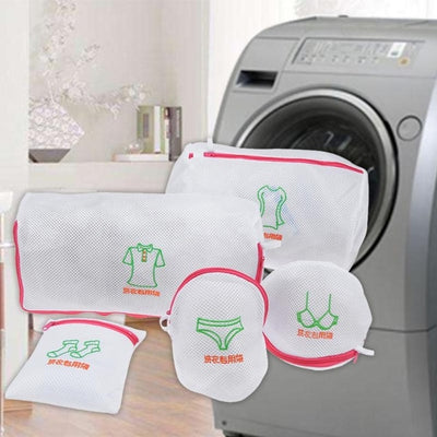 Double Layer Mesh Laundry Bags Set