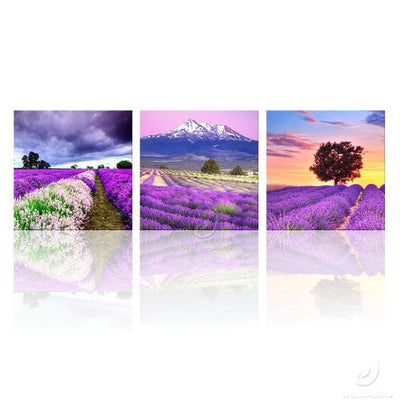 3 Panel Flower Canvas Pictures
