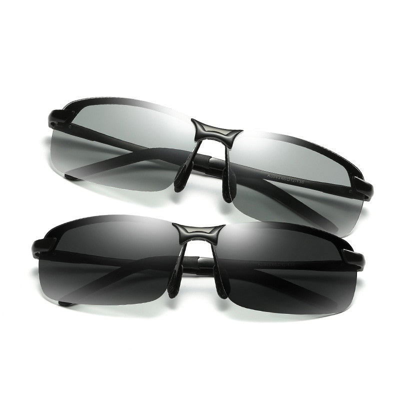 Rimless Photochromic Sunglasses