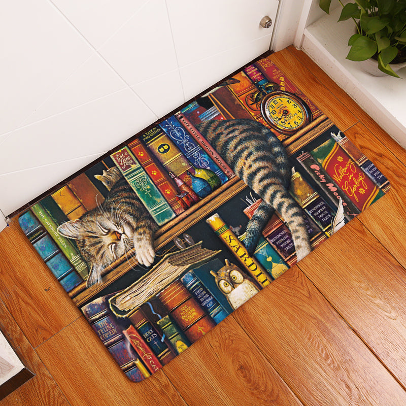 Adorable Cat Welcome Mat