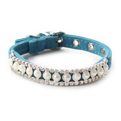 Luxury Dog Collars Pearl Diamond