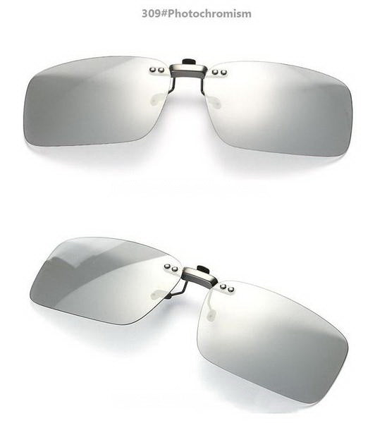 Polarized Photochromic Sunglasses Clip On