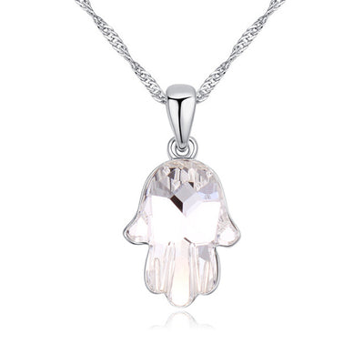 Crystal Fatima Hand Necklace