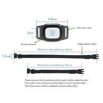 Smart GPS Dog Collar Waterproof IP67