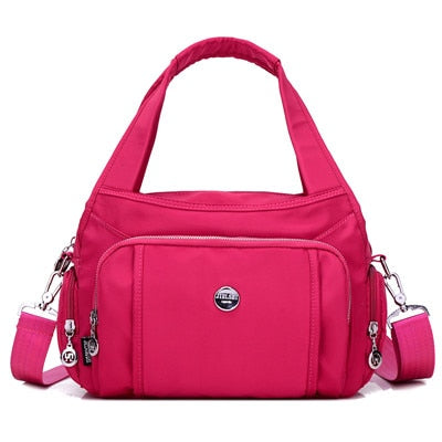 Multi Pocket Nylon Crossbody Bag