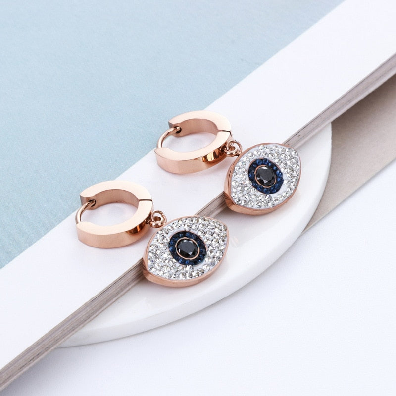 Regal Evil Eye Earrings