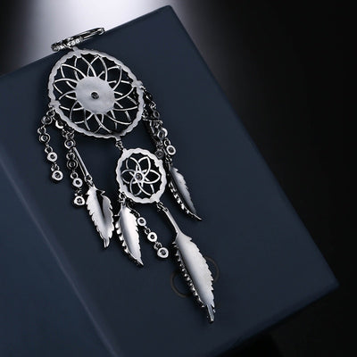 Indians Dream Catcher Silver Earrings