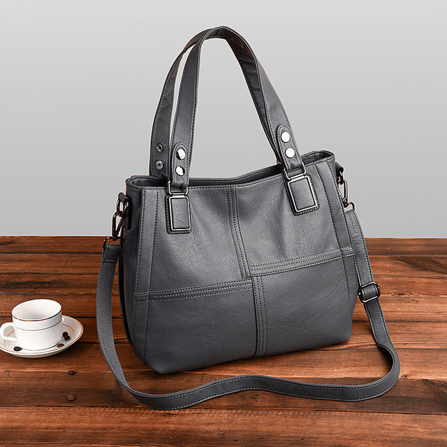Artificial Leather Tote Shoulder Bag