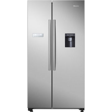 Hisense HR6SBSFF624SW 624L Side by Side Fridge (S/Steel)