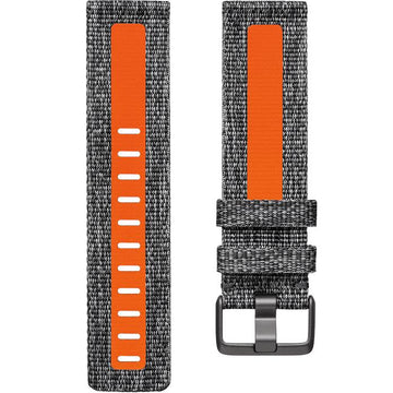 Fitbit Woven Reflective Band for Versa 2 (Charcoal Orange/Small)