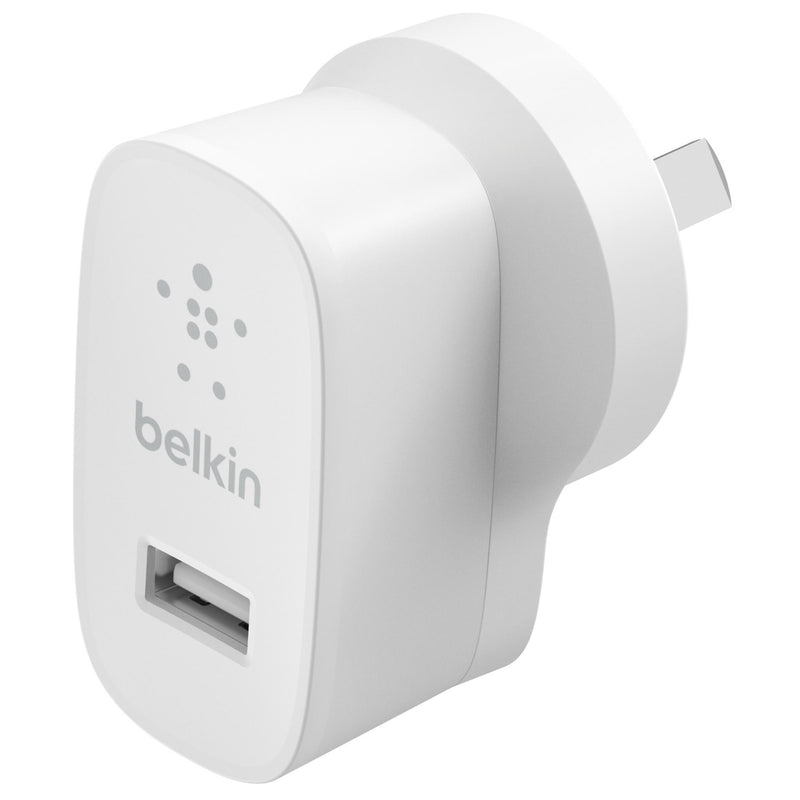 Belkin 12W USB A Wall Charger (White)
