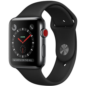 Apple Watch Series 3 38mm Space Black Stainless Steel Case GPS + Cellular