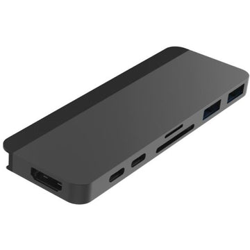 HyperDrive DUO 7-in-2 USB-C Hub for MacBook Pro MB (Grey)