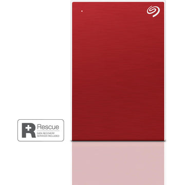 Seagate 2TB One Touch Portable Hard Drive (Red)