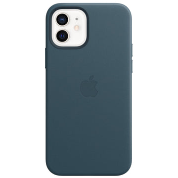 Apple Leather Case for iPhone 12/12 Pro (Baltic Blue)