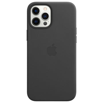 Apple Leather Case for iPhone 12 Pro Max (Black)
